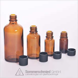 Flaskor av blåst glas, EHV-glas, blåst glas, injektionsflaskor eller ampuller, doftoljor