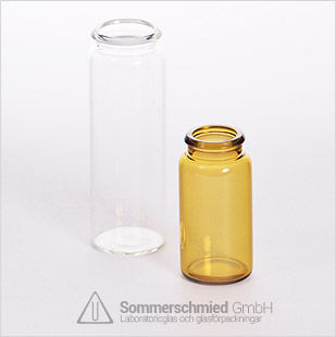 Glasbehallare för tabeletter, lock, transparent brunt glas