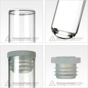 Provrör med slät kant, odlingsrör, provrörssortiment, rund, vara flat eller konisk, screentryck på glaset